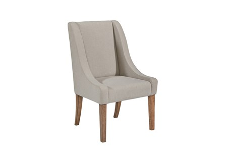 Magnolia Home Demi Flannel Wing Side Chair By Joanna Gaines