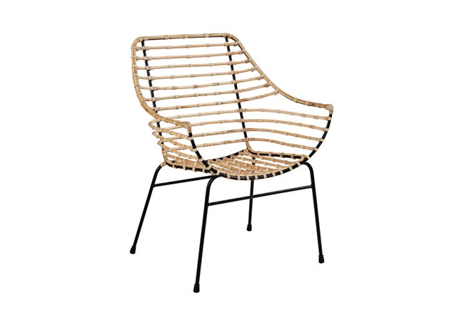 Magnolia Home Entwine Rattan Arm Chair By Joanna Gaines - 360