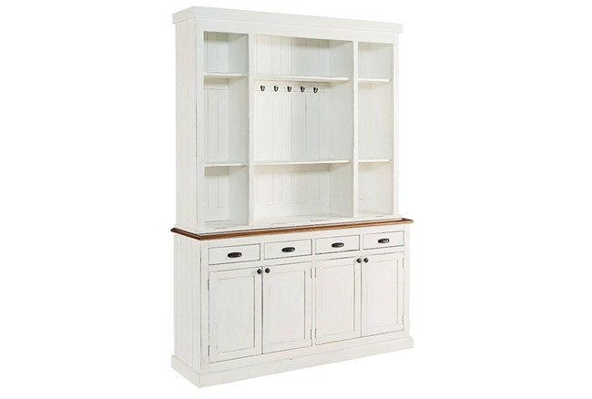 Magnolia Home White Baker'S Pantry Cabinet And Hutch By Joanna Gaines - 360