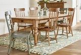 Magnolia Home Taper Turned Bench 84 Inch Dining Table By Joanna Gaines - Room
