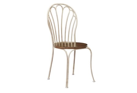Magnolia Home Peacock Antique White Metal Side Chair By Joanna Gaines