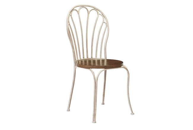 Magnolia Home Peacock Antique White Metal Side Chair By Joanna Gaines - 360