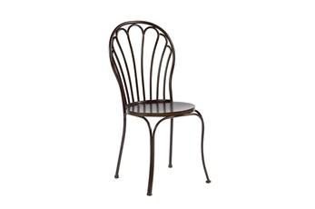 Magnolia Home Peacock Blackened Bronze Metal Dining Side Chair By Joanna Gaines