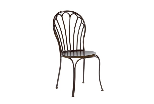 Magnolia Home Peacock Blackened Bronze Metal Dining Side Chair By Joanna Gaines - 360