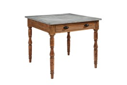Magnolia Home Taper Turned Bench Gathering Table With Zinc Top By Joanna Gaines
