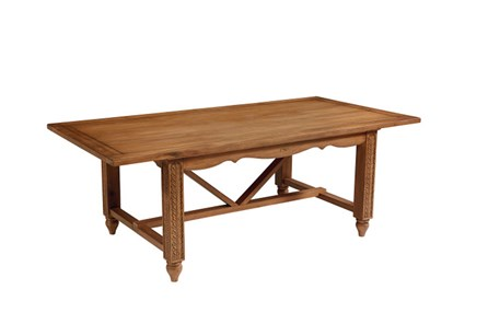Magnolia Home Leaf Carved Dining Table By Joanna Gaines