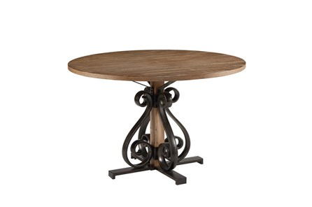 Magnolia Home Scroll Round Dining Table By Joanna Gaines - Main