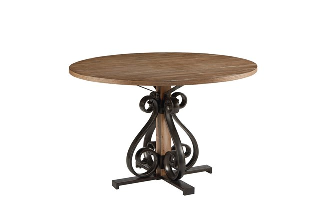 Magnolia Home Scroll Round Dining Table By Joanna Gaines - 360