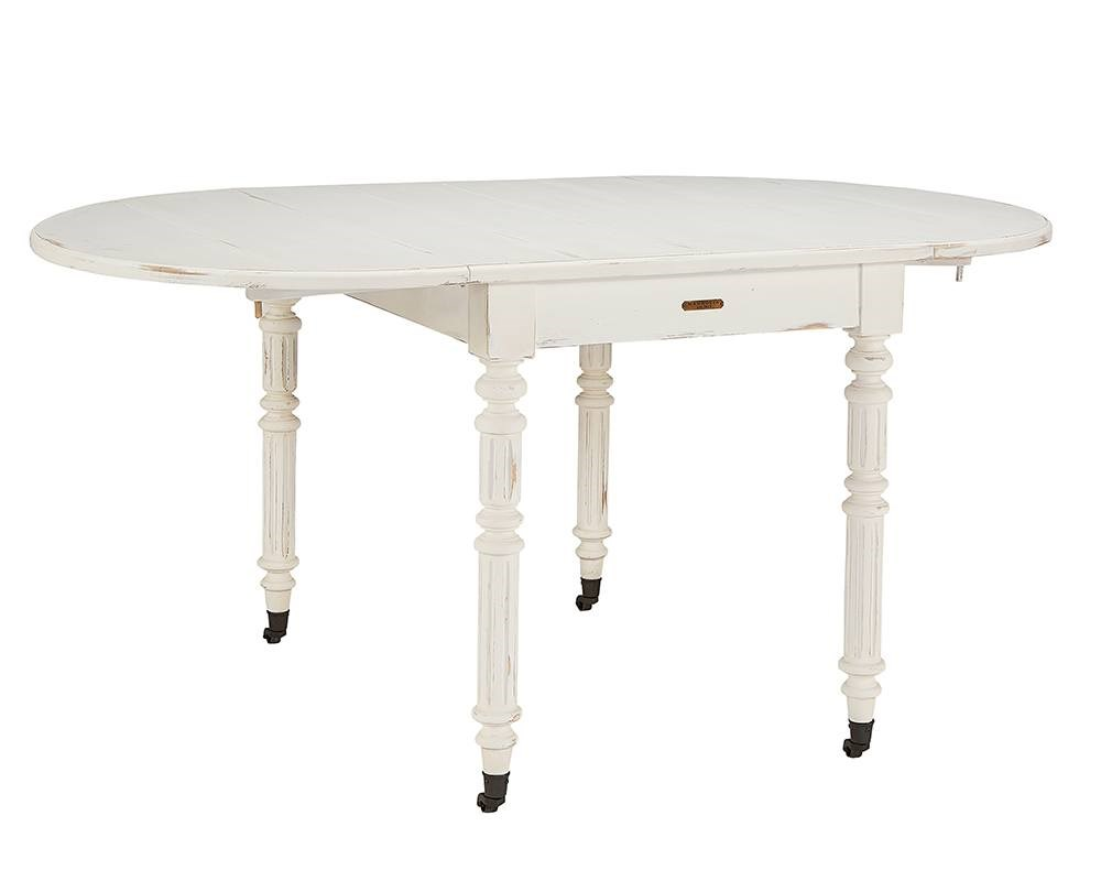 Magnolia home windsor jos white oval dining table with dropleaf by joanna gaines qty 1 has been successfully added to your cart
