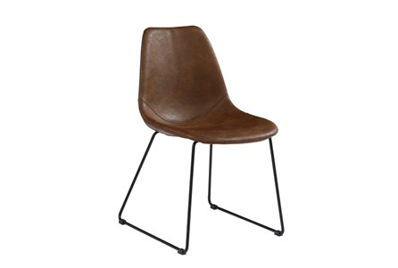 Magnolia Home Molded Shell Brown Side Chair By Joanna Gaines