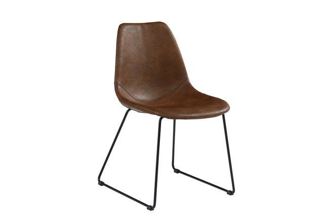 Magnolia Home Molded Shell Brown Side Chair By Joanna Gaines - 360