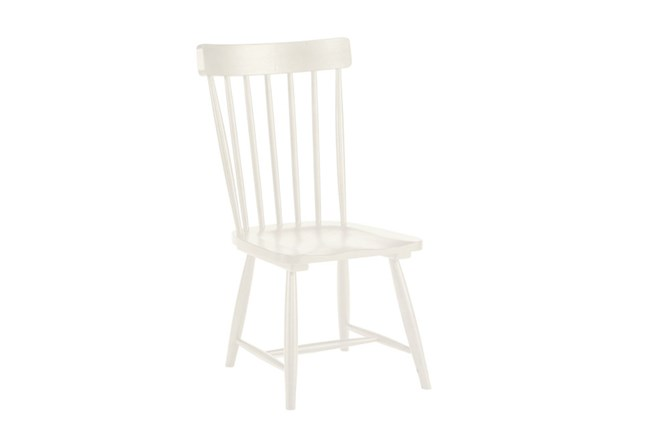 Magnolia Home Spindle Back Jo'S White Side Chair By Joanna Gaines - 360