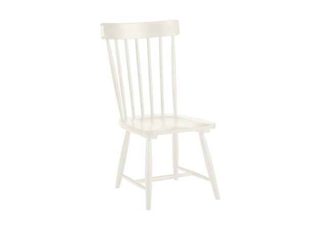 Magnolia Home Spindle Back Jo S White Side Chair By Joanna