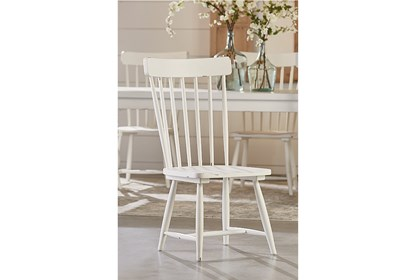 Enjoyable Magnolia Home Spindle Back Jos White Side Chair By Joanna Gaines Pdpeps Interior Chair Design Pdpepsorg