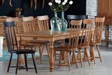 Magnolia Home Vase Turned Bench 84 Inch Dining Table By Joanna Gaines - Room