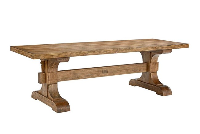 Magnolia Home Keyed Bench Trestle Dining Table By Joanna Gaines - 360