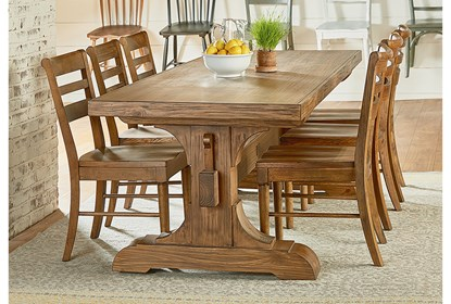 Magnolia Home Keyed Bench Trestle Dining Table By Joanna Gaines