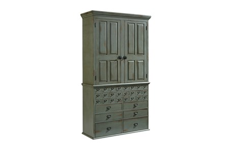 Magnolia Home Card Catalog 30 Drawer Armoire By Joanna Gaines - Main