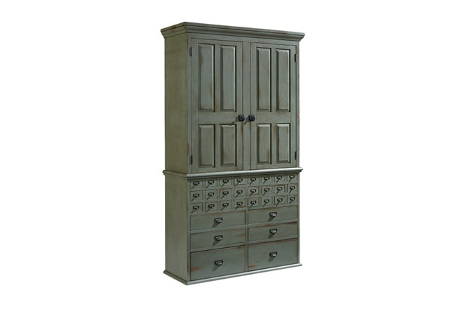 Magnolia Home Card Catalog 30 Drawer Armoire By Joanna Gaines - 360