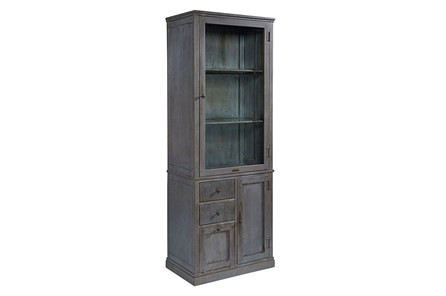 Magnolia Home Apothecary French Grey Metal Cabinet By Joanna Gaines - Main