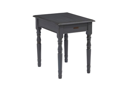 Magnolia Home Taper Turned French Grey Nightstand/End Table By Joanna Gaines