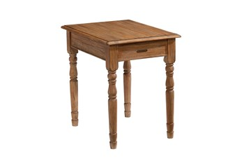 Magnolia Home Taper Turned Bench Nightstand/End Table By Joanna Gaines