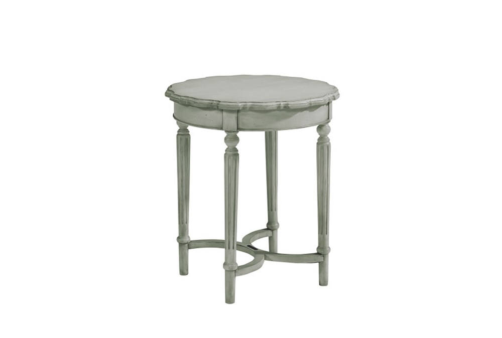 Magnolia Home Pie Crust Dove Grey Tall Side Table By Joanna Gaines