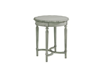 Magnolia Home Pie Crust Dove Grey Tall End Table By Joanna Gaines