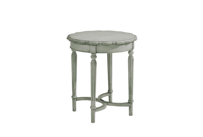 Magnolia Home Pie Crust Dove Grey Tall Side Table By Joanna Gaines - 360