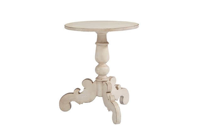 Magnolia Home Tripod Antique White Hall Table By Joanna Gaines - 360