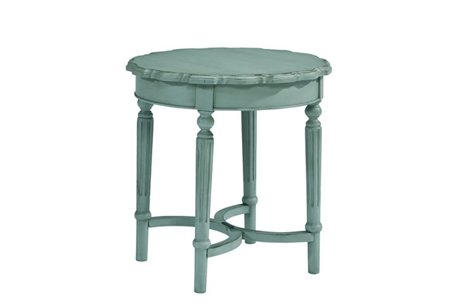 Magnolia Home Pie Crust French Blue End Table By Joanna Gaines - 360