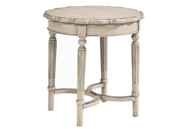 Magnolia Home Pie Crust Antique White End Table By Joanna Gaines - 360