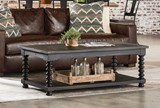 Magnolia Home Spool Leg Chimney Cocktail Table By Joanna Gaines - Room