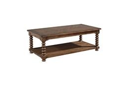 Magnolia Home Spool Leg Shop Floor Coffee Table By Joanna Gaines