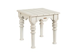 Magnolia Home Scallop Antique White End Table By Joanna Gaines