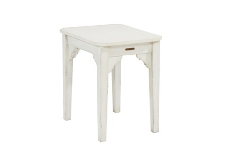 Magnolia Home Bracket Jo'S White End Table By Joanna Gaines