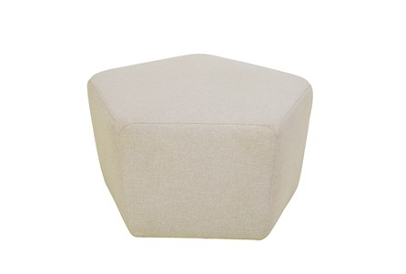 Taupe Upholstered Pentagon Stool