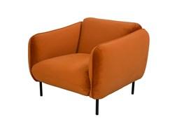 Velvet Burnt Orange Accent Chair