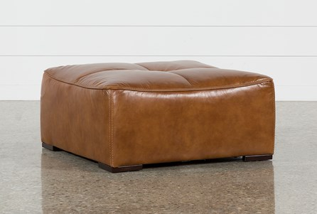 Burton Leather Cocktail Ottoman