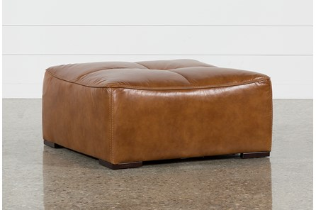 Burton Leather Cocktail Ottoman - Main