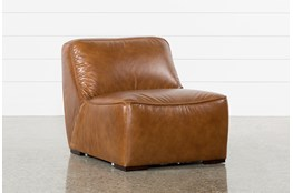 Burton Leather Armless Chair
