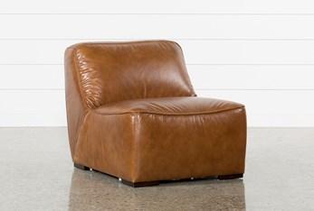 Burton Leather Armless Chair