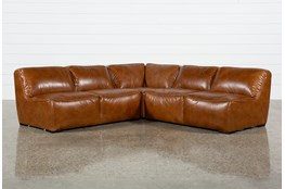 Burton Leather 3 Piece Sectional With 2 Loveseats