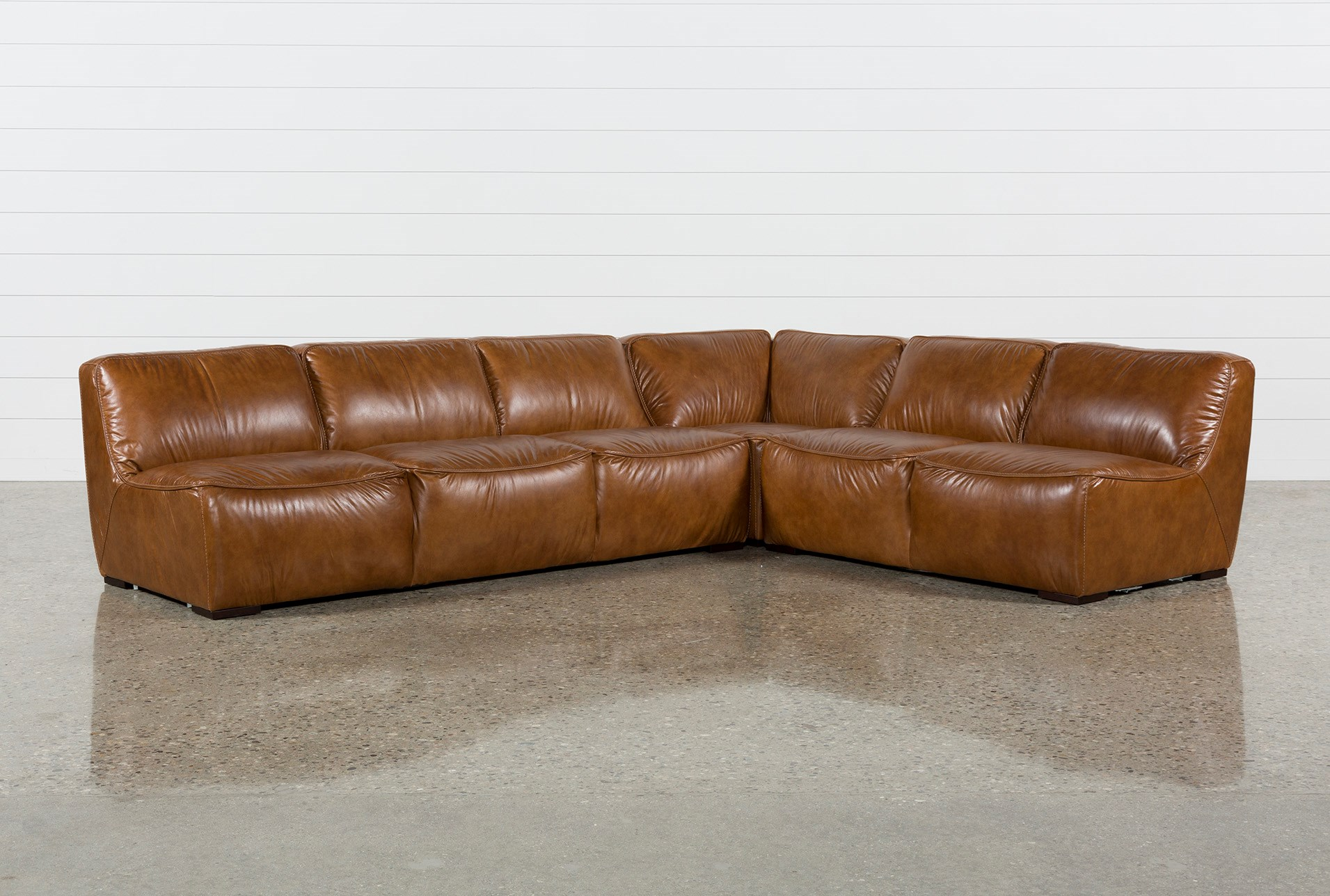 Marvelous Burton Leather 3 Piece Sectional Forskolin Free Trial Chair Design Images Forskolin Free Trialorg