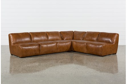 Burton Leather 3 Piece Sectional Living Spaces