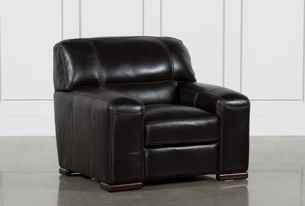 Grandin Blackberry Leather Chair