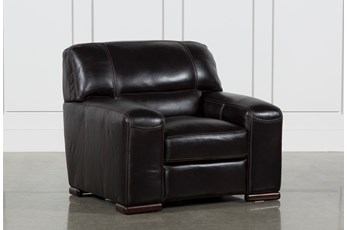 Grandin Blackberry Leather Chair