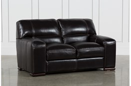 "Grandin Blackberry Leather 67"" Loveseat"