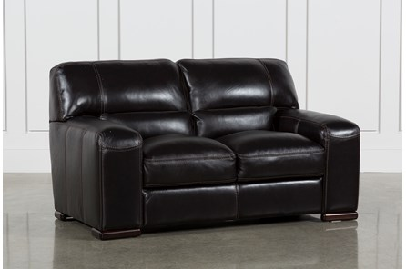 Grandin Blackberry Leather Loveseat