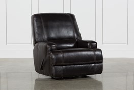 Grandin Leather Manual Glider Recliner